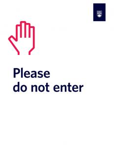 Do Not Enter White