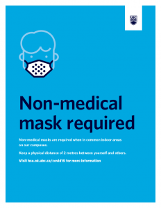 Non-medical mask required