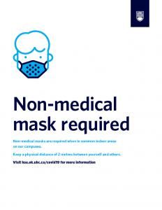 Non-medical mask required white